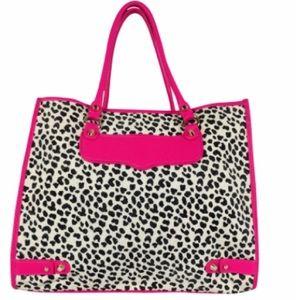 Rebecca Minkoff hot pink animal print tote bag